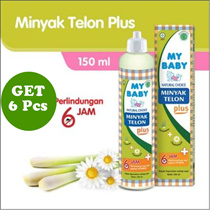 [Get 6 Pcs] Cheap Baby Package Telon Oil Plus 150 ml / Protect baby from mosquito bites