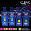 Clear MEN Complete Care/Cooling Itch Control/Anti Hair Fall/Cool Sports Menthol/Deep Cleanse Anti Dandruff Shampoo 700ml