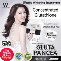 20% OFF+ $8 OFF! [5+2] ♥ GLUTA PANCEA ♥ GLUTATHIONE EFFECTIVE NATURAL WHITENING/SLIMMING SUPPLEMENT