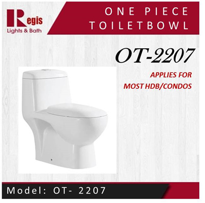 Qoo10 new year promotion regis toilet bowl model ot 2207 one piece wc furniture deco - Model deco wc ...