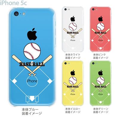 【iPhone5c】【iPhone5c ケース】【iPhone5c カバー】【クリア ケース】【iPhone カバー】【スマホケース】【クリアケース】【イラスト】【クリアーアーツ】【野球】 10-ip5c-ca0061の画像