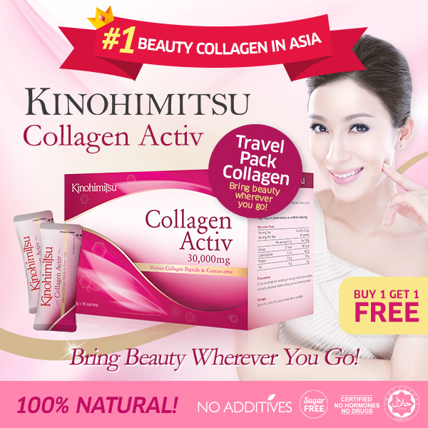 Kinohimitsu Collagen Activ Powder 30s Deals for only S$79.8 instead of S$0
