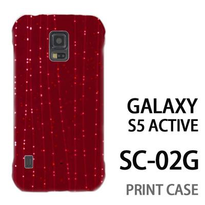 GALAXY S5 Active SC-02G 用『1210 ライン 赤』特殊印刷ケース【 galaxy s5 active SC-02G sc02g SC02G galaxys5 ギャラクシー ギャラクシーs5 アクティブ docomo ケース プリント カバー スマホケース スマホカバー】の画像