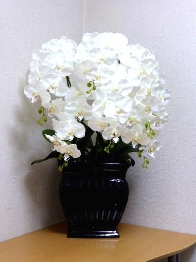●代引き不可送料無料デラックス胡蝶蘭コチョウラン 造花の画像