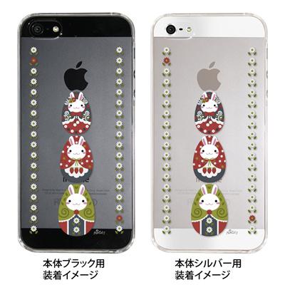 【iPhone5S】【iPhone5】【NAGI】【iPhone5ケース】【カバー】【スマホケース】【クリアケース】【アニマル】【うさぎマトリョーシカ】 ip5-24-ng0009の画像