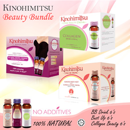 💟 Kinohimitsu Beauty Bundle 💟 SG52 SPECIAL [BB Drink 6s + Beauty Drink 6s + Bust up 6s]