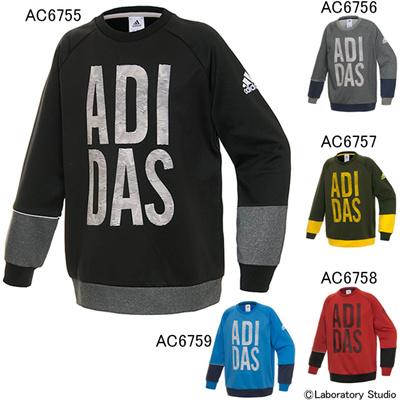 アディダス (adidas) キッズ TCOS URBAN リフレクター バックフリースクルースウェット BBQ51 [分類:スウエットシャツ・トレーナー (ジュニア)]の画像