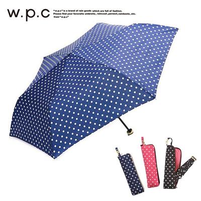 ワールドパーティー W.p.c 折りたたみ傘 ドットジッパー ワールドパーティー W.p.c 折りたたみ傘 ドットジッパーの画像