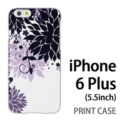iPhone6 Plus (5.5インチ) 用『0114 花のオブジェ 黒』特殊印刷ケース【 iphone6 plus iphone アイフォン アイフォン6 プラス au docomo softbank Apple ケース プリント カバー スマホケース スマホカバー 】の画像