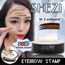 Latest Trend 2017 Eyebrow Stamp! GET NATURAL PERFECT EYEBROWS SHAPE in 10 seconds! Grey/ brown shade