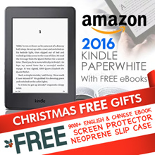 ~Amazon Kindle Paperwhite 2015/16 (Latest 7th Gen) with Free 9000+ English and Chinese eBooks! Special Offer Free Screen Protector and NeoPrene Slip Case! Best Amazon Kindle Paperwhite Tablet! ~