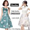 【24/9 new】Korean style Slim lace Chiffon dress/Long sleeve Dress/Sleeveless Short sleeve/OL/Occupation Casual Dress/Little girl/Work Office Dress/Pop/ fashion/high quality/2016 new spring and summer