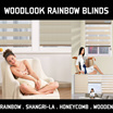 ◆WOODLOOK RAINBOW BLINDS◆HONEYCOMB BLINDS◆SHANGRI-LA BLINDS◆TOP Designer Blinds◆ Blackout Roman Venetian Woodlook Vertical Curtain String Folded Honeycomb Shangri-La Wooden Blinds