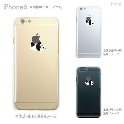 iPhone6 4.7inch ソフトケース Clear Arts ケース カバー スマホケース クリアケース かわいい おしゃれ 着せ替え イラスト パンダ 08-ip6-tp0019の画像