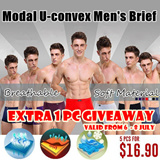 [EXTRA 1 PC GIVEAWAY] Modal U-convex Mens Brief / Breathable and Soft Material Underwear/ The Man Health Essential Choice! Regain Passion !