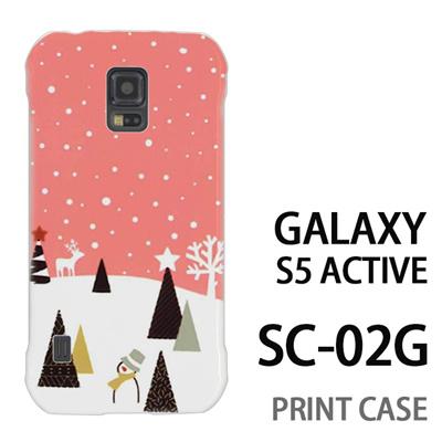 GALAXY S5 Active SC-02G 用『1210 雪景色 ピンク』特殊印刷ケース【 galaxy s5 active SC-02G sc02g SC02G galaxys5 ギャラクシー ギャラクシーs5 アクティブ docomo ケース プリント カバー スマホケース スマホカバー】の画像