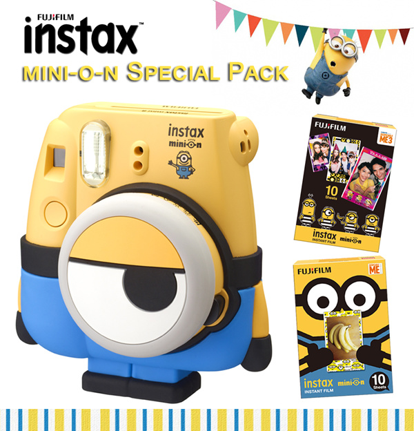 [Fujifilm]Instax Mini 8?Minion Special Pack?Minion Film Pack Available?1 Year Warranty? Deals for only S$199 instead of S$0