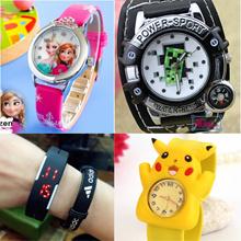 Kids School Waterproof Sports Watch★Sofia★Frozen★Peppa★Minecraft★Slap Watches/Digital/Gift/Pokemon
