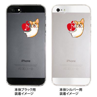 【iPhone5S】【iPhone5】【まゆイヌ】【Clear Arts】【iPhone5ケース】【カバー】【スマホケース】【クリアケース】【コーギー】 ip5-26-md0001の画像