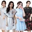 13/8 Korean style Slim lace Chiffon dress/Plus size Dresses/Beach skirt/Bohemia/floral dress/work