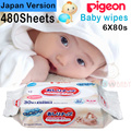 [Made in Japan] Pigeon Baby Wipes. 6X80S(480sheets). Japan Version _family