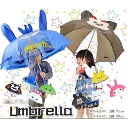 Cute Children Baby Kids 3D Cartoon Umbrella Rainy Day Hot Sun Hello Kitty Rain Coat Christmas Gift
