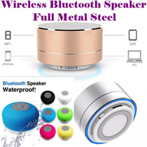 Portable Subwoofer Shower Sweatproof Waterproof Wireless Sports Bluetooth Speaker Car Handsfree Receive Call Music Suction Phone Mic For iPhone/Earpiece Headset