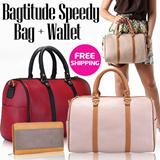 [BEST DEAL] BEST SELLER! Bagtitude Speedy Bag + Baggy Wallet ★ Tas Wanita - Tas Fashion - Bowling Bag - Handbag - Dompet Wanita ★
