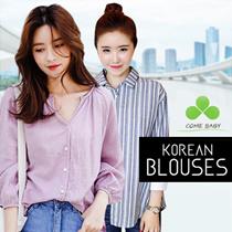 【update On Aug 17 】2017 Korea New Style Blouse Dress Long Blouse Short Blouse S-5XL