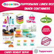 Tupperware Lunch Box Snack ON-THE-GO FOOD CONTAINERS Aquasafe Eco Fliptop Water Bottle