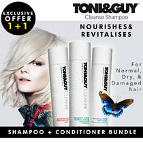 [1+1 Special] Toni and Guy Shampoo+Conditioner 250ml each for Dry Hair / Damaged Hair /Anti-Dandruff