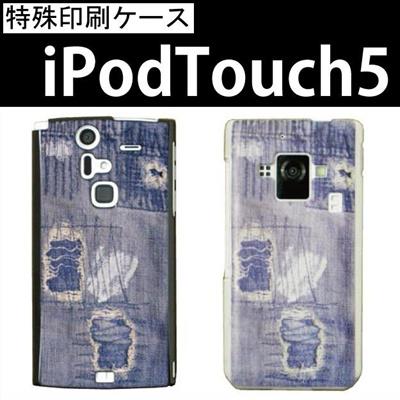 特殊印刷/iPodtouch5(第5世代)iPodtouch6(第6世代) 【アイポッドタッチ アイポッド ipod ハードケース カバー ケース】(ダメージデニム)CCC-037の画像