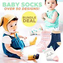 [ORTE]  Baby Girls Boys Socks Bundle Deals ★ WinterSocks ★ Good Quality ★ 100% cotton ★ Towel Socks
