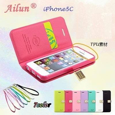 iPhone5C [全7色] DER Ailun メモ帳シリーズ手帳型 ケース/DER Ailun Jotter Series Diary Caseの画像