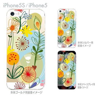 【iPhone5S】【iPhone5】【Vuodenaika】【iPhone5ケース】【カバー】【スマホケース】【クリアケース】【フラワー】 21-ip5-ne0037の画像