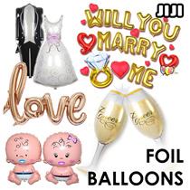 ★ FOIL BALLOONS ★ CELEBRATION ★ ALUMINIUM ★ MARRY ME ★ PARTY ★ MARRIAGE ★ PROPOSAL ★ ALPHABETS