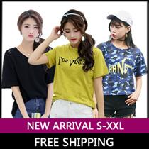 19 APR NEW ARRIVAL ★ Tee/Black White Short Sleeve Women Shirt/Round neck Slim Fit Ladies T-Shirt