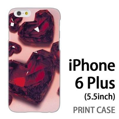 iPhone6 Plus (5.5インチ) 用『0115 ガラスのハートいっぱい 赤』特殊印刷ケース【 iphone6 plus iphone アイフォン アイフォン6 プラス au docomo softbank Apple ケース プリント カバー スマホケース スマホカバー 】の画像