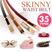 1.5S$!Grand Sale Last Day!Easy-matching belt!☆4 Items 1 Shipping Fee☆35 TYPES! Skinny Waist Belt / Bowknot Thin / Versatile Fashion / Causal OL / Stretch Candy Color / Waistband Light / 【M18】