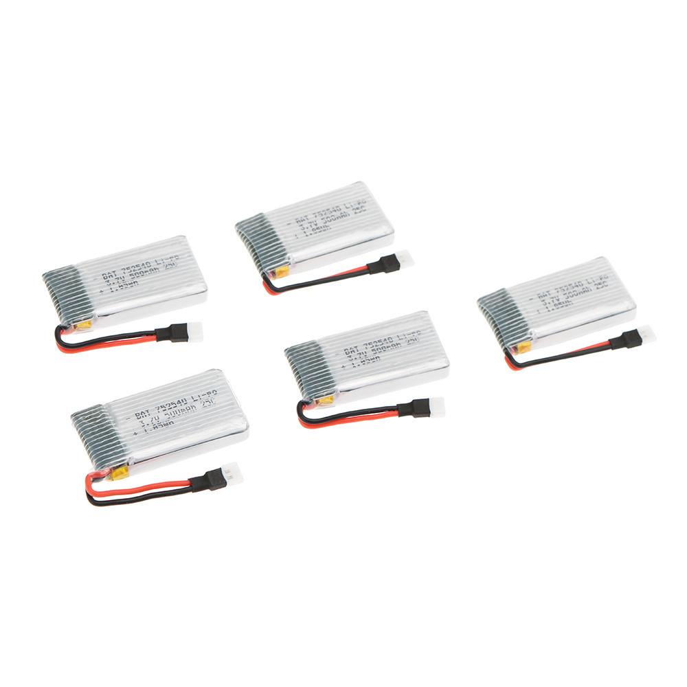 【クリックで詳細表示】SYMA X5C X5SC X5SW JJRC H5C Topselling Q7 RCクワッドローター用SGの5pcs 3.7Vシティ500mAh 25Cリポバッテリー