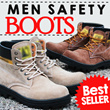 [BEST SELLER!!] NEW UPDATE! MEN SAFETY BOOTS/LEATHER BOOTS/SEPATU PRIA**BANYAK WARNA/MODEL**HIGH QUALITY AND LOW PRICES**