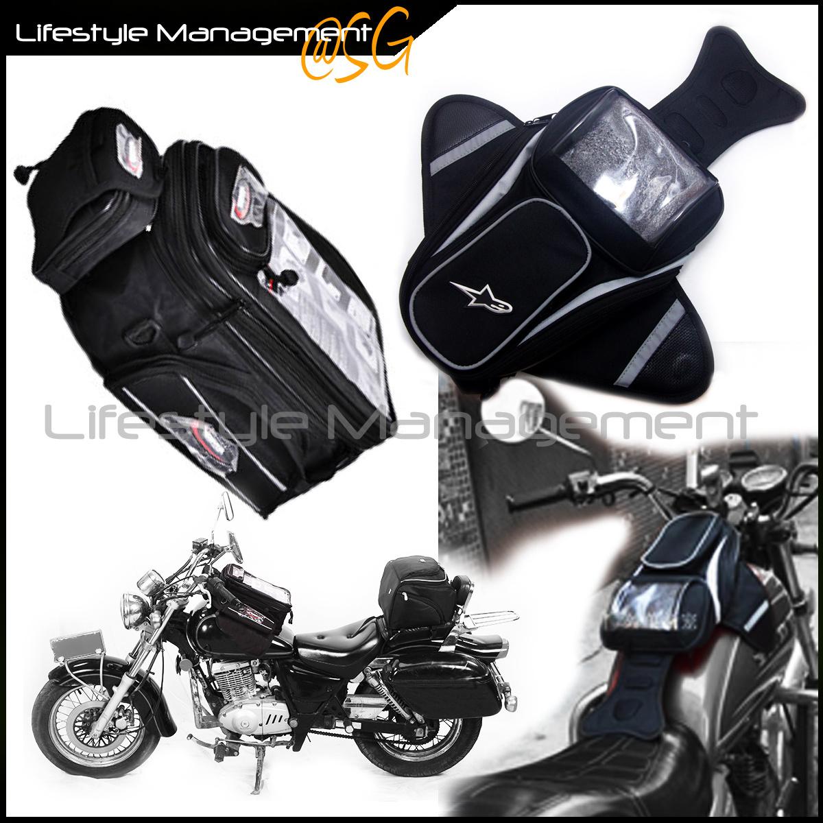Qoo10 - Motorcycle/Bike Magnet Fuel Tank Helmet Sling Magnetic Bag ...