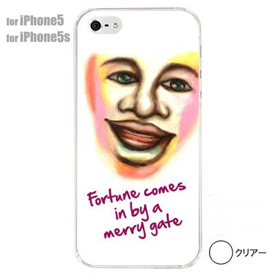 【iPhone5S】【iPhone5】【iPhone5ケース】【カバー】【スマホケース】【クリアケース】【ミュージック】【イラスト】【笑う門には福来る】 01-ip5-s004の画像
