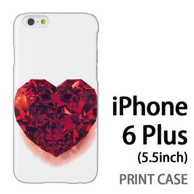 iPhone6 Plus (5.5インチ) 用『0115 ガラスのハート 赤』特殊印刷ケース【 iphone6 plus iphone アイフォン アイフォン6 プラス au docomo softbank Apple ケース プリント カバー スマホケース スマホカバー 】の画像