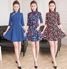Fashion Cheongsam dress Qipao Traditional Clothes 旗袍 Fashion dress CNY Chinese New Year