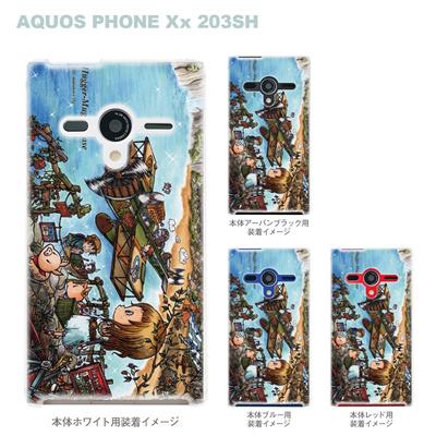 【AQUOS PHONEケース】【203SH】【Soft Bank】【カバー】【スマホケース】【クリアケース】【クリアーアーツ】【アート】【SWEET ROCK TOWN】 46-203sh-sh0010の画像