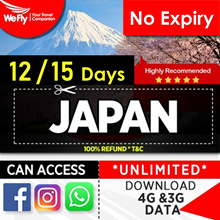 Japan : NEW#  10-15 days of Unlimited 4G Highspeed Data.NO EXPIRY DATE