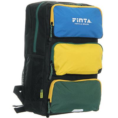 フィンタ(FINTA)3ポケットバックパックフリーサイズFT6437ブラック×グリーン【サッカーリュックバッグ通学部活】【rks4】