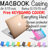 {FREE KEYBOARD COVER}Premium MacBook Casing/Pouch/Protector/All in One{MacBook Pro Retina 13 inch/15 inch/12 inch}{MacBook Air 11 inch/13 inch}(New Macbook)