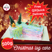 [BAKE A JOY] ❤ Christmas Log Cake ❤ 4 Different Cake Flavours Available! FREE DELIVERY!